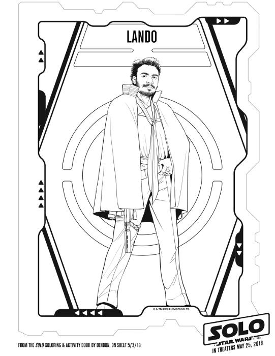 Lando coloring page