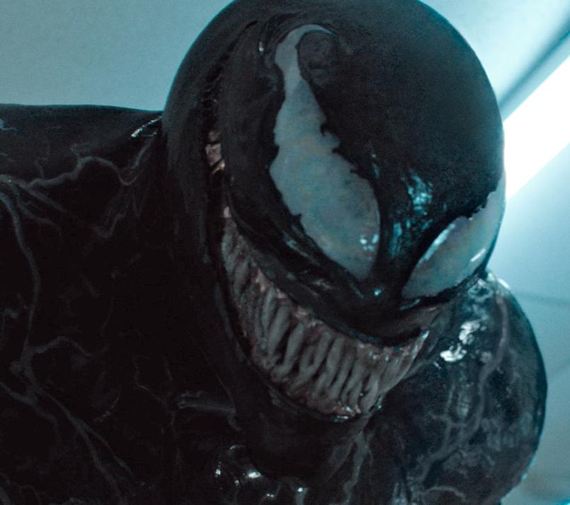 Action shot of Venom