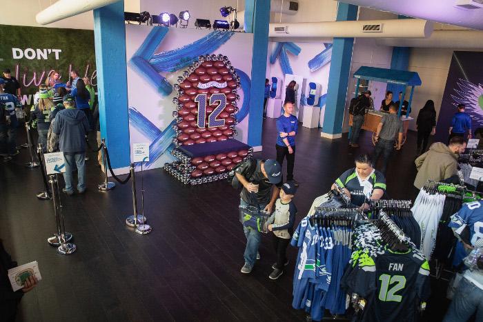 Seahawks Pro Shop pop-up