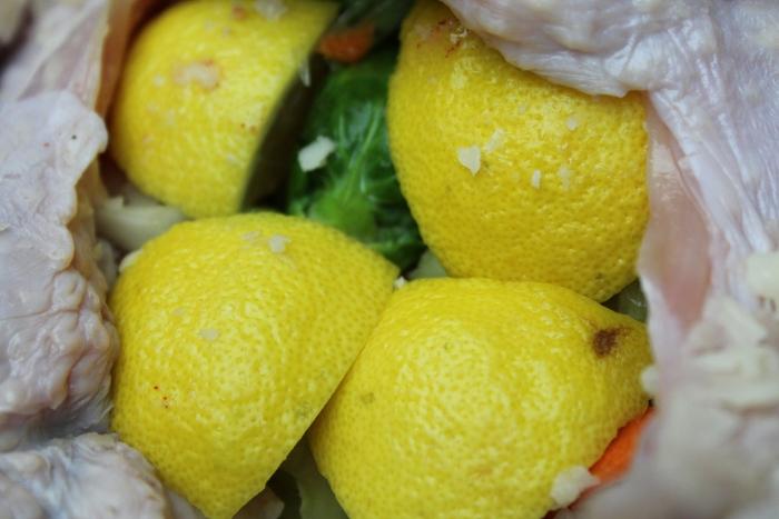 Lemon stuffed turkey